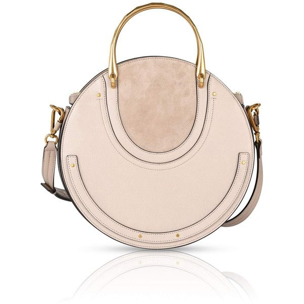 Chloé Medium Pixie Bag In Pastel Grey Smooth Goat Leather And Suede... ($1,950) ❤ liked on Polyvore featuring bags, handbags, pastel handbags, chloe purse, gray purse, gray suede purse and chloe bag