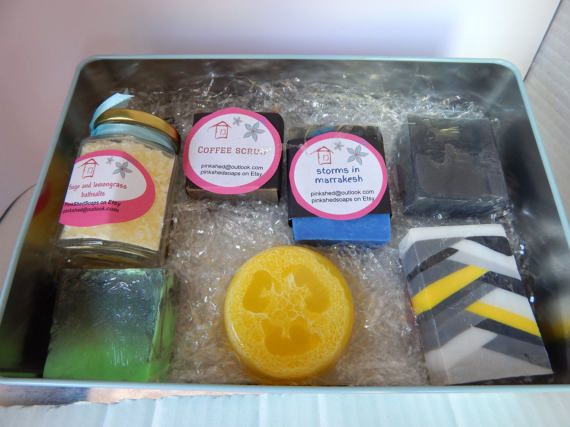 Check out this item in my Etsy shop https://www.etsy.com/au/listing/503670170/mens-gift-pack-assorted-bar-soaps-melt