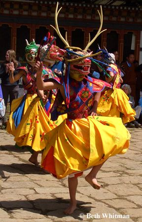 Festival in Bhutan. Listed as one of my favorite places to visit - vote for me to travel and volunteer around the globe! http://www.bestjobaroundtheworld.com/submissions/view/6797 #GetawayDiscoverGiveback #GADGB #Bhutan