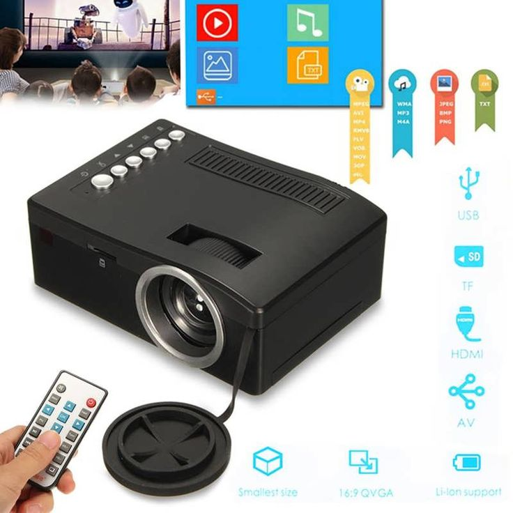 Full HD 1080P Home Theater LED Mini Portable Projector Cinema USB TV VGA TF AV  Worldwide delivery. Original best quality product for 70% of it's real price. Buying this product is extra profitable, because we have good production source. 1 day products dispatch from warehouse. Fast &...