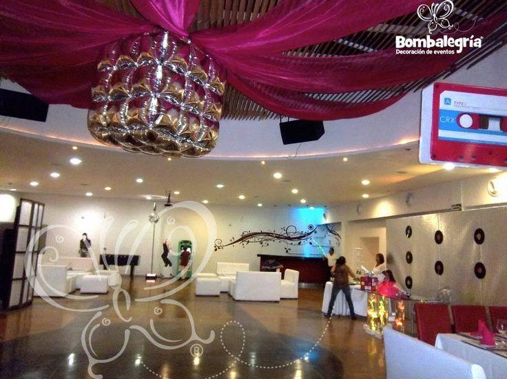 80 s decoraci n de fiestas hermosas fiestas tema xv for Decoracion 80 anos ipuc