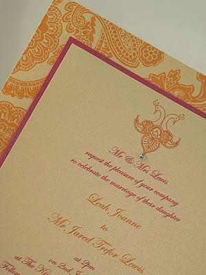Cheap Wedding Invitations Pink And Orange   The Wedding Specialists
