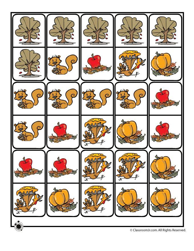 Fall Printable Dominoes Printable Dominoes for Fall – Classroom Jr.