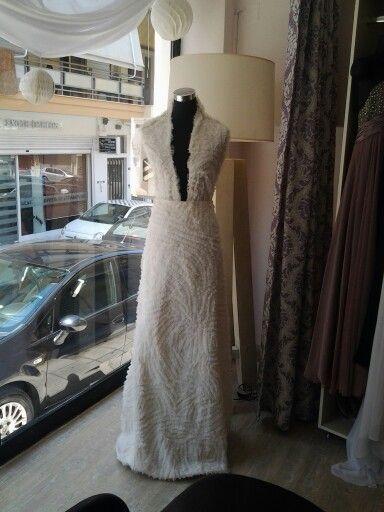 Soie sauvage bridal dress.