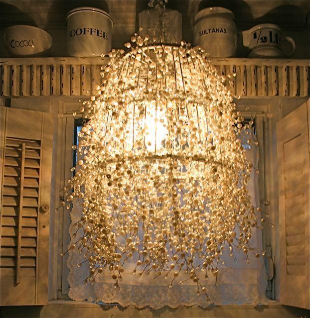pearl strand lamp. The tutorial is here:  http://designdazzle.blogspot.com/2009/05/diy-pearl-strand-lamp.html