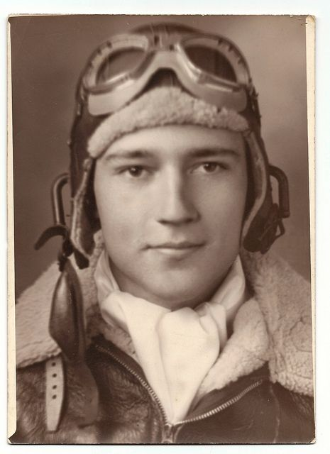 Handsome pilot - have a pic of my hubby just like this; same outfit; he was handsome too.