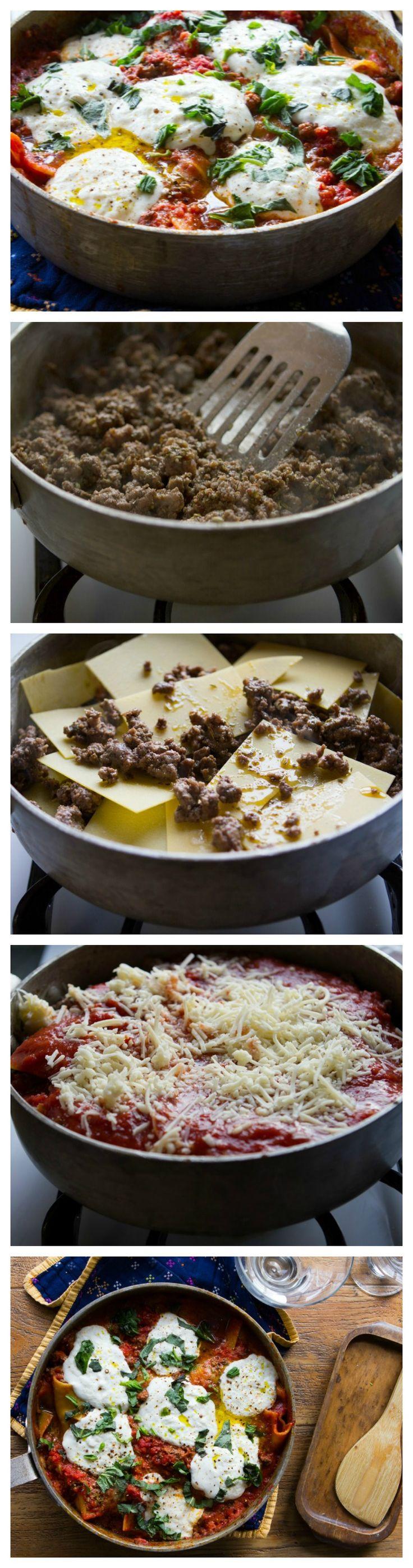 One-Pot Deliciously Easy Lasagna