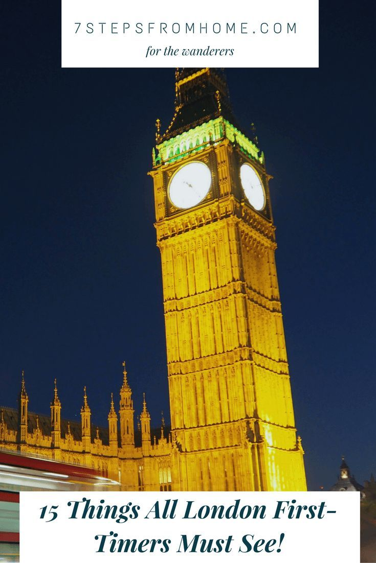 15 things all first-time visitors to London must see!