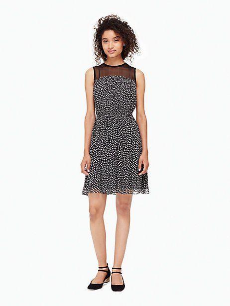 spot chiffon dress | Kate Spade New York