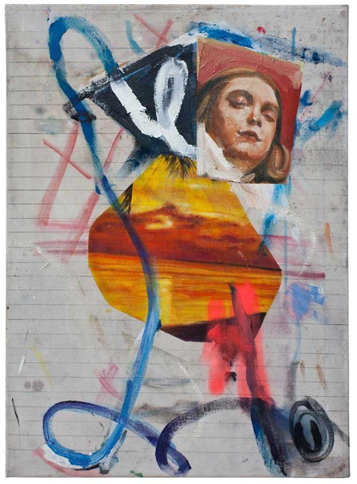 -so-rot-abends- Öl auf Nessel, 66 x 48 cm, 2017 Endy Hupperich