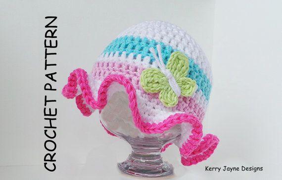 BABY HAT PATTERN by Kjd Crochet Hat Pattern by KerryJayneDesigns