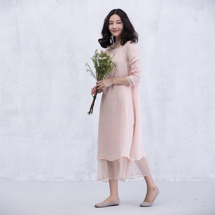 XianRan Женщины Летнее Платье Свободные Платья Два Носить Платье белье Плюс Размер Платья Бесплатная Доставка купить на AliExpress