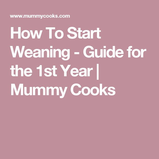 How To Start Weaning - Guide for the 1st Year | Mummy Cooks