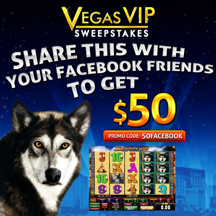 Share this page with your facebook friends to get $50. Like us and enter to win. Contact support live chat at: https://www.facebook.com/vegasvipsweepstakes/app_117816694983243 - Terms and conditions: http://vegasvipsweepstakes.com/terms/share_facebook.html - Download Virtual Casino here: http://www.vegasvipsweepstakes.com/