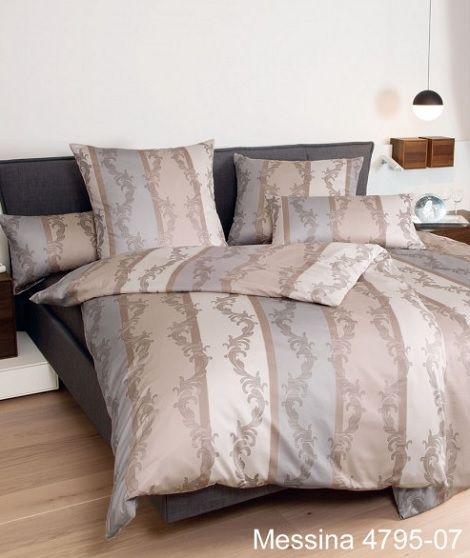 Janine messina 4795 07 dekbedovertrek satijn kleur taupe beige grijs dessin barok hulsta - Taupe en grijs ...