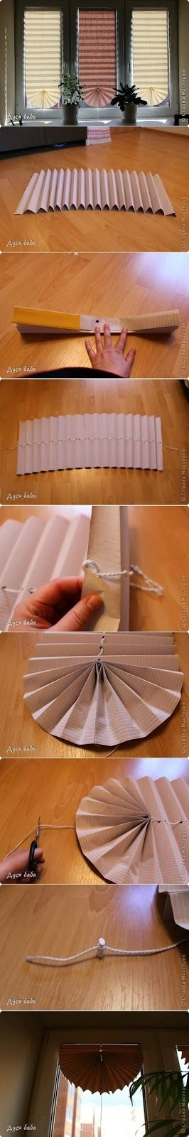 Make a Fan Curtain by papers  These fan curtains  are very practical and useful. You just need a piece of cardboard which  you should ...