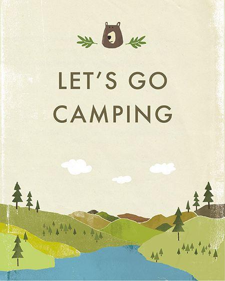 Let's go camping #illustration #book