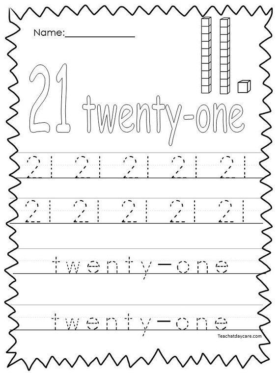 10 Printable Numbers 21 30 Tracing Worksheets Etsy In 2020 Tracing Worksheets Preschool Numbers Preschool Kindergarten Worksheets Printable