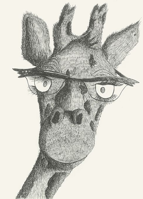 Mme Giraffe  #animal#glasses#madame#aristocratic#bigeye by Leo Bellei.