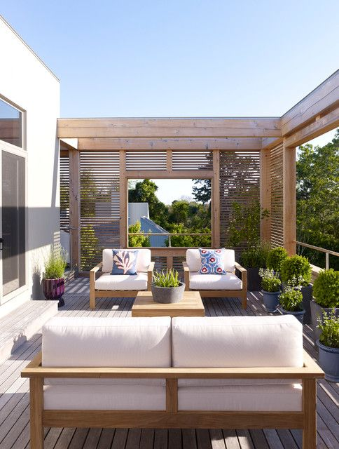 18 Outstanding Contemporary Deck Designs For Your Backyard - Living Area on the Deck / Patio / Porch - House Exterior