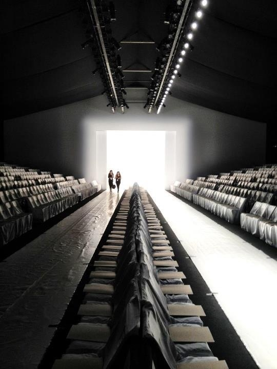 empty runway during fashion week fashion pinterest