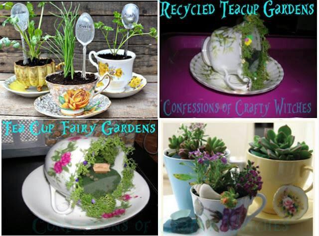 Tea cup Fairy Gardens | Fairy garden | Pinterest