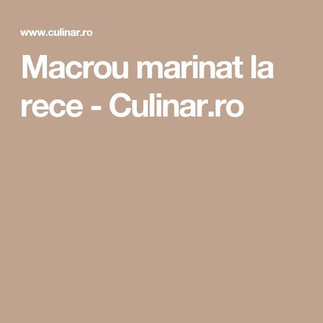 Macrou marinat la rece - Culinar.ro