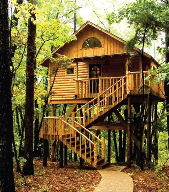 Eureka Springs, Arkansas : Original Treehouse Cottages