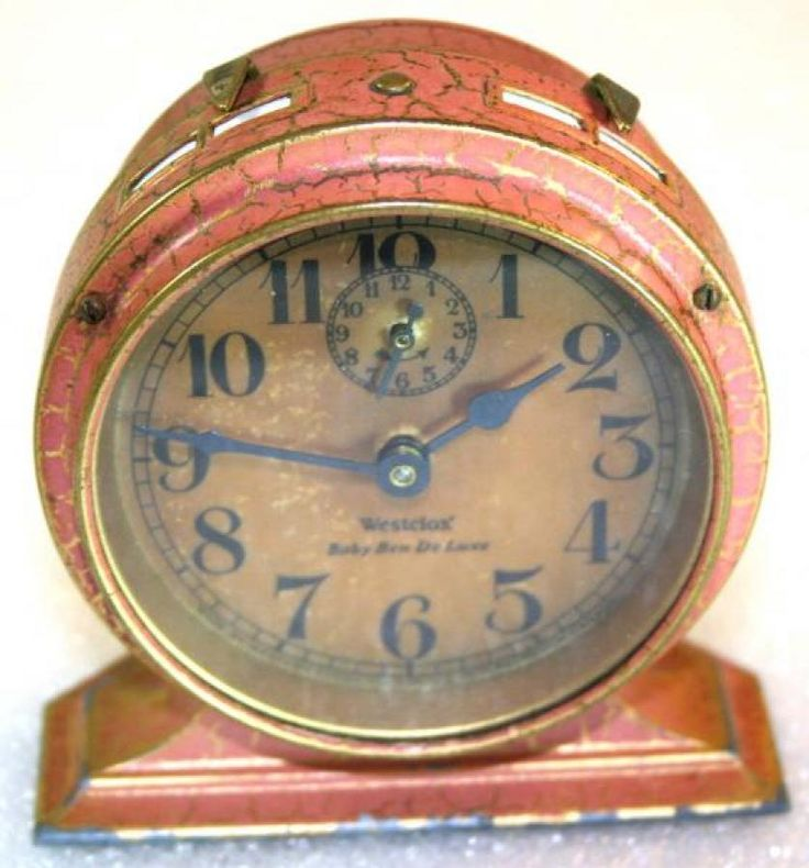 Westclox 1920s Baby Ben De Luxe (Red) Alarm Clock