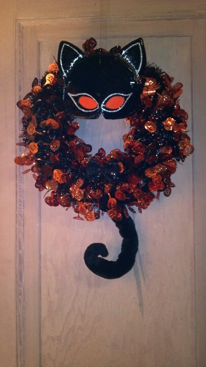 Cat Wreath from Child's Halloween Costume | HALLOWEEN ...