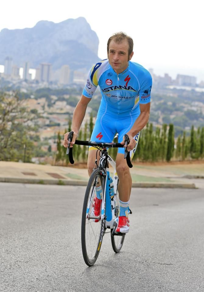 Michele Scarponi in his new Astana kit
