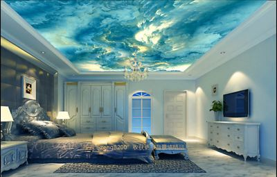 Details about 3D Oil Painting Sky Clouds 2 Ceiling Wall Paper Wall Print Decal Wall Deco AJ