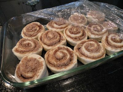 Cinnamon rolls out of Rhodes frozen rolls. Yummers!