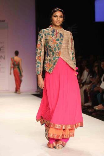 Kalmkari on jacket.....Lakme Fashion Week 2014