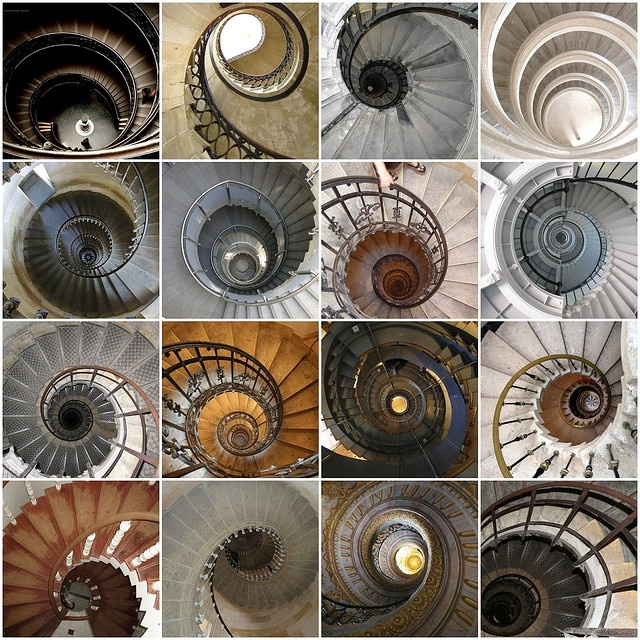 Spiral Staircases. Beautiful.