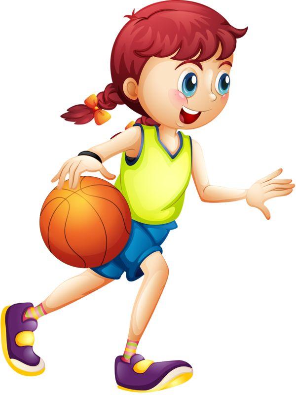 Niña con pelota basketball