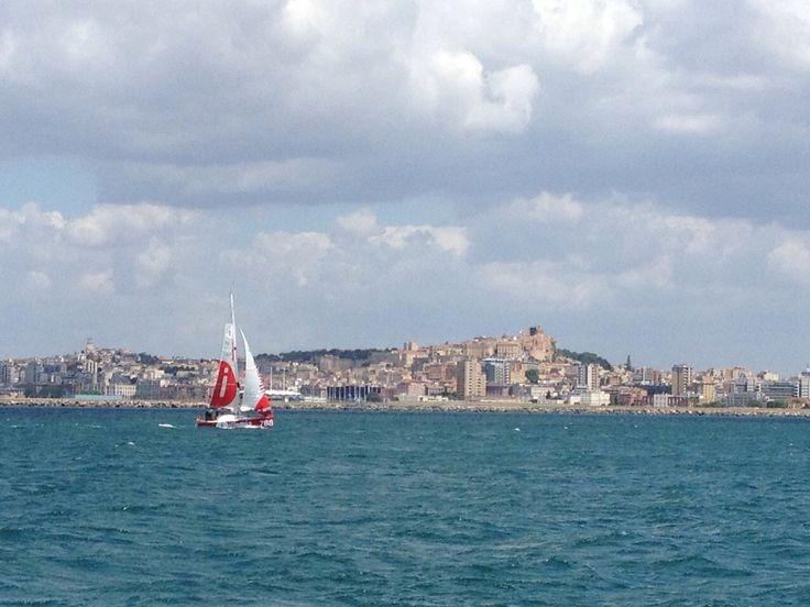Cagliari come sfondo alla partenza della roundsardiniarace