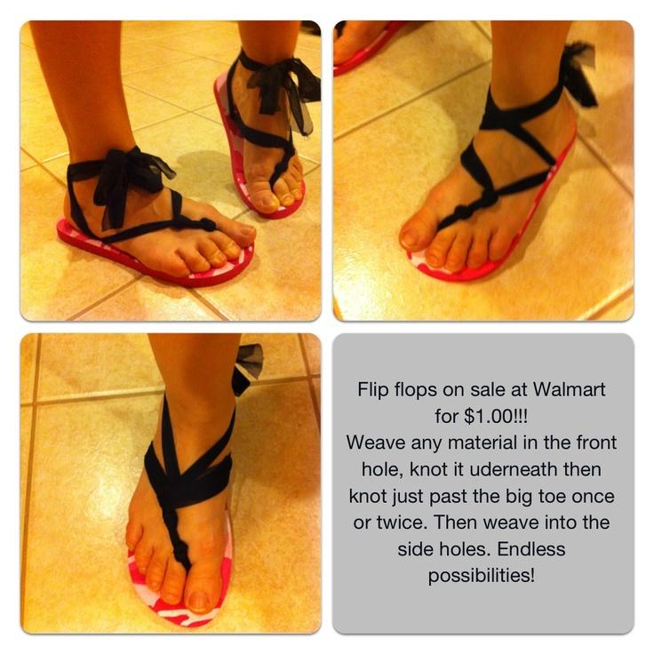 DIY flip flop...a cheap version of the changeable $60 ones!