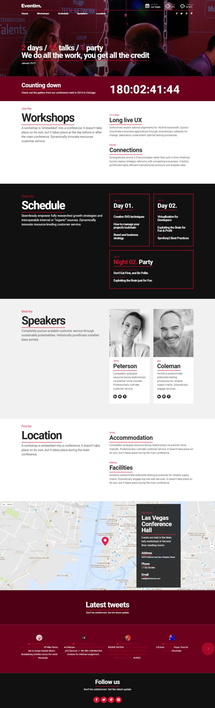 Eventim is a WordPress Theme exculively built for event, conference, summit, meetup, workshop, festival and selling tickets integrated websites. It is fully Responsive, Retina Ready and Easy to customize.