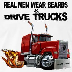 cartoon images of man and wife driving 18 wheeler | 18 WHEELS: LOVE MY DRIVER