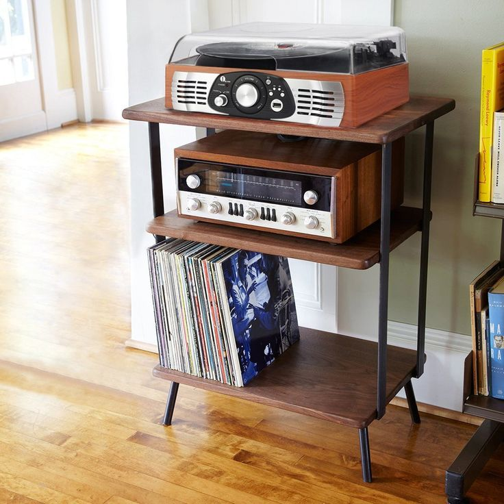 Amazon.com: 1byone Belt-Drive 3-Speed Stereo Turntable with Built in Speakers…