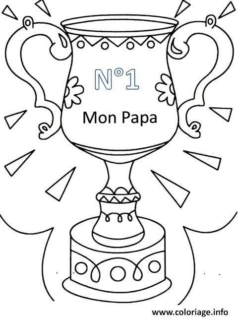 Coloriage papa numero un fete des peres à imprimer