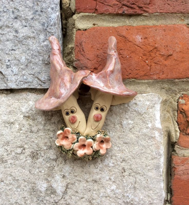 Wall mushroom, whimsical pottery toadstool - pinned by pin4etsy.com