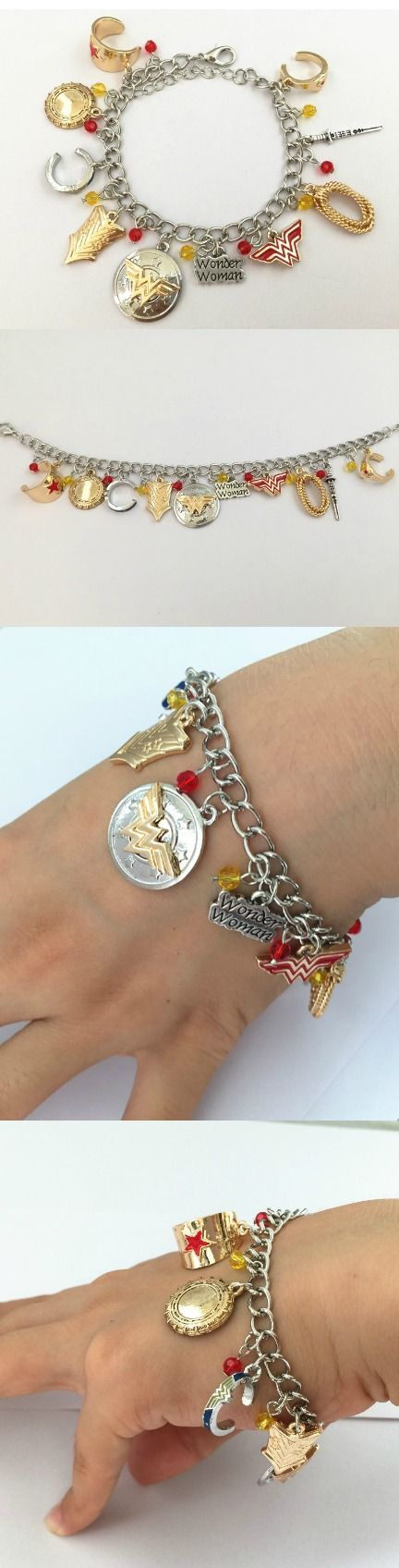 Wonder Woman Charm Bracelet! Click The Image To Buy It Now or Tag Someone You Want To Buy This For. #WonderWoman