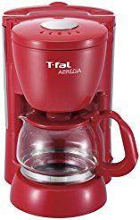 Christmas deals week T-FAL (simple easy maintenance) coffee maker apresia solid red CM111570