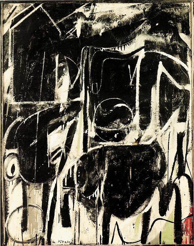 Willem de Kooning - Abstract Expressionism - 'Black Friday' (1948)