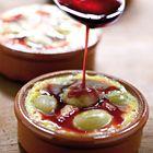 Clafoutis met witte druiven en siroop van rode wijn - recept - okoko recepten