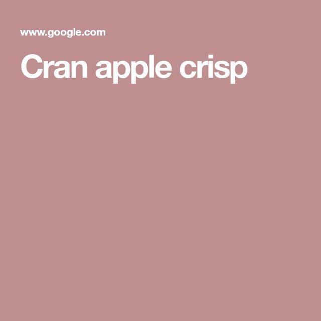 Cran apple crisp