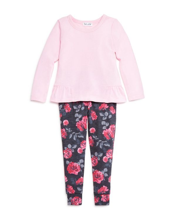 Splendid Girls' Top and Floral Leggings Set - Sizes 2-6X