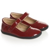 Girls Red Patent Leather Velcro Shoes